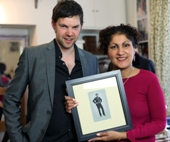 Imtaz with Darren Baker Official Portait Artist of the Queen, photographed by Ray O'Neill