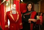 Meera Syal with Imtaz suit for charity