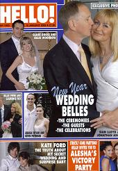 Imtaz designs wedding dress for Sian Lloyd on cover of Hello!